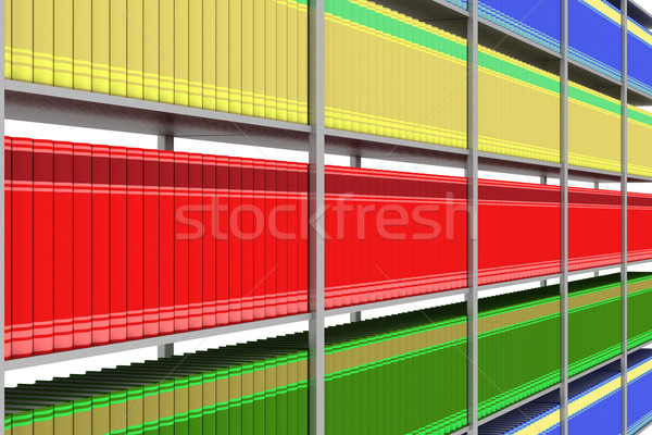 Case with books. 3D image. Stock photo © ISerg