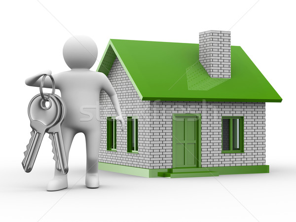 Presentation of new house. Isolated 3D image Stock photo © ISerg