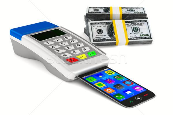 支払い 現金 白 孤立した 3D 画像 ストックフォト © ISerg