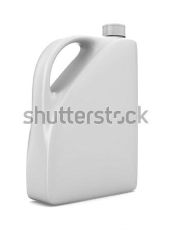 oil bottle on white background. Isolated 3D image Stock photo © ISerg