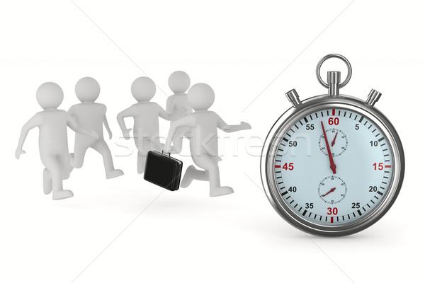 Irányítás fehér izolált 3D kép óra Stock fotó © ISerg