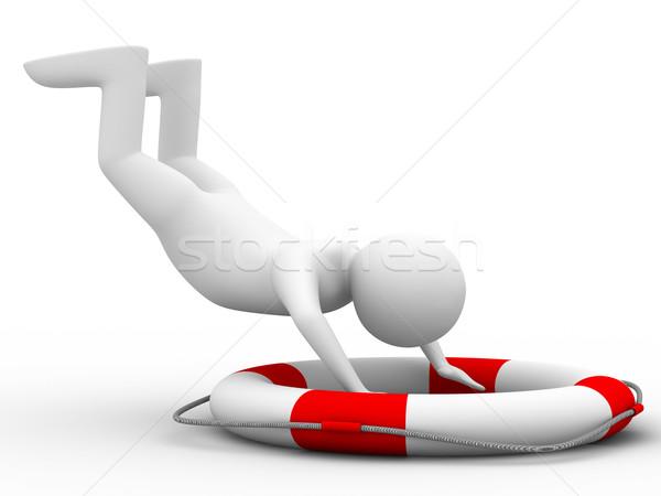 Foto stock: Queda · homem · branco · isolado · 3D · imagem