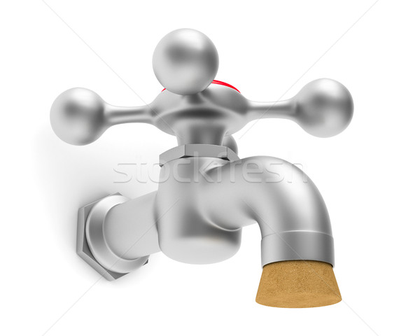 faucet on white background. Isolated 3D image Stock photo © ISerg