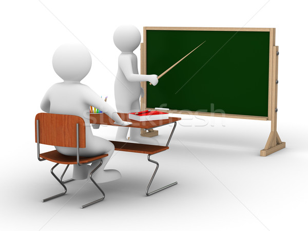 Lesson at school. Isolated 3D image on white Stock photo © ISerg