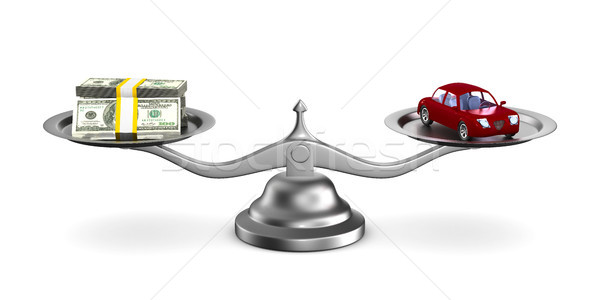 car and money on scale. Isolated 3D illustration Stock photo © ISerg