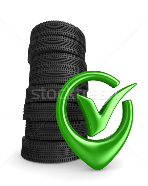 disk wheel on white background. Isolated 3D image Stock photo © ISerg