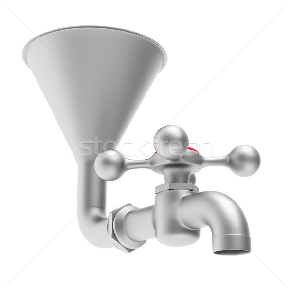 faucet on white background. Isolated 3D illustration Stock photo © ISerg