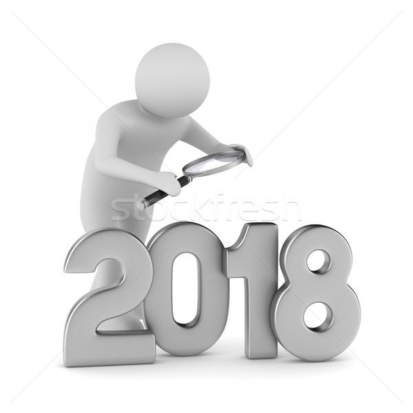 2018 new year. Isolated 3D illustration Stock photo © ISerg