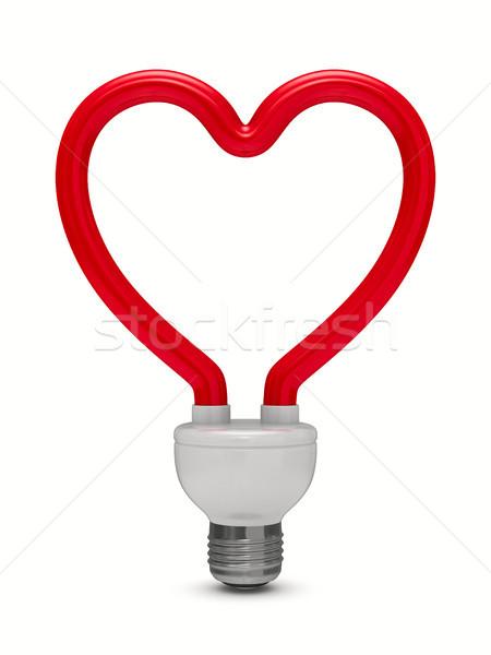 energy saving bulb on white background. Isolated 3D image Stock photo © ISerg