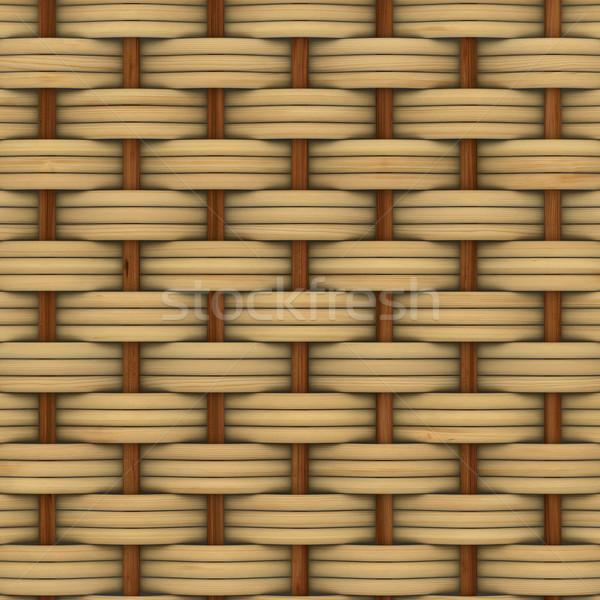 Absztrakt dekoratív fából készült mintázott kosár 3D Stock fotó © ISerg