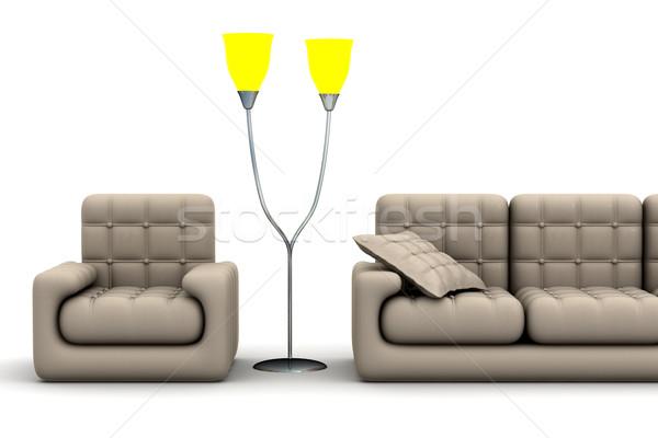 Foto stock: Interior · salón · 3D · imagen · diseno · belleza