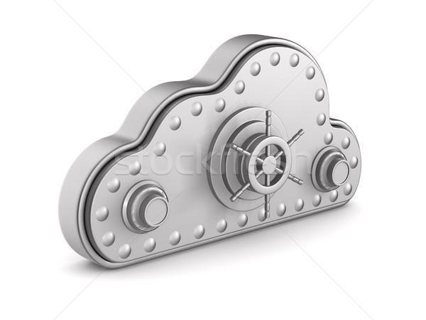 Bulut kilitlemek beyaz yalıtılmış 3d illustration teknoloji Stok fotoğraf © ISerg