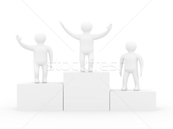 Nyertes izolált 3D kép személy játékok Stock fotó © ISerg