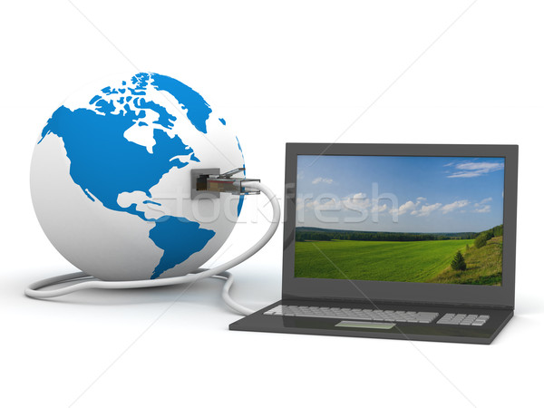 Global communication in the world. 3D image. Stock photo © ISerg
