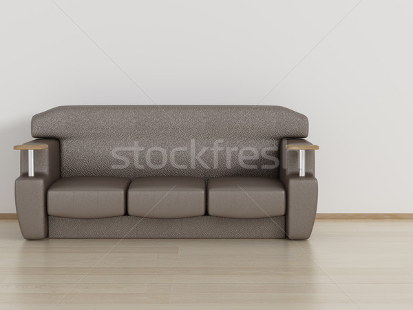 Leather sofa in a room. 3D image. Stock photo © ISerg