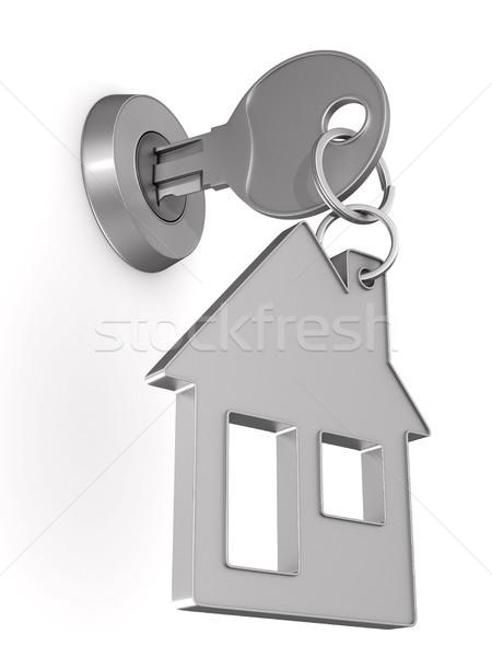 Kluczowych cacko domu biały odizolowany 3D Zdjęcia stock © ISerg
