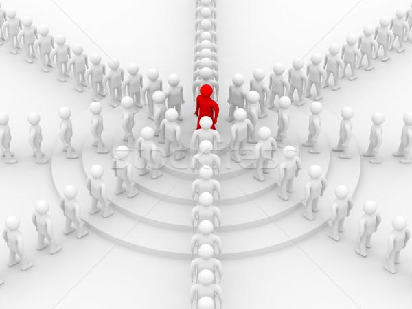 Foto d'archivio: Immagine · lavoro · di · squadra · 3D · gruppo · conferenza · rosso