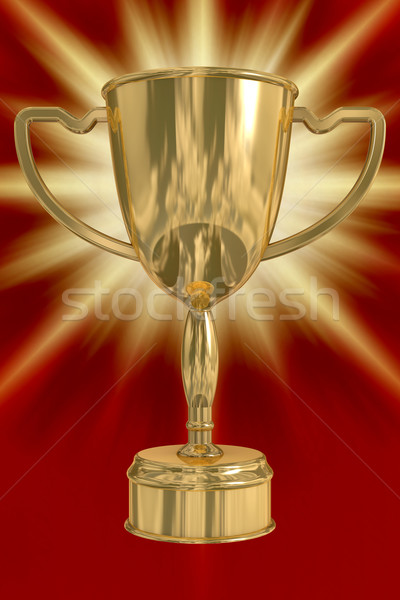 Gold cup of the winner. the 3D  image. Stock photo © ISerg