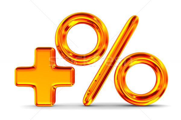 Increase percent on white background. Isolated 3D illustration Stock photo © ISerg