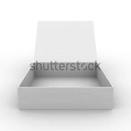 Stok fotoğraf: Açmak · kutu · beyaz · yalıtılmış · 3D · görüntü