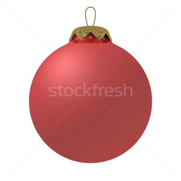 Karácsony dekoráció fehér izolált 3D kép Stock fotó © ISerg