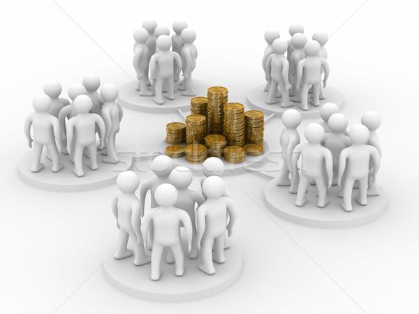 Stockfoto: Afbeelding · teamwerk · geïsoleerd · 3D · internet · groep