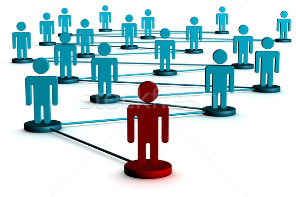 ストックフォト: 画像 · チームワーク · 3D · インターネット · 技術 · グループ