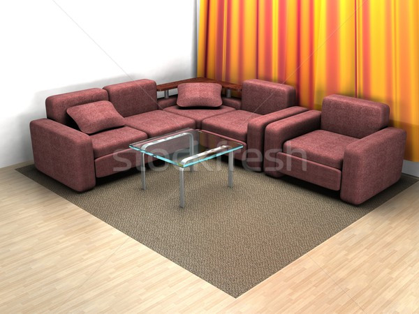 Interior of a home room. 3D image. Stock photo © ISerg