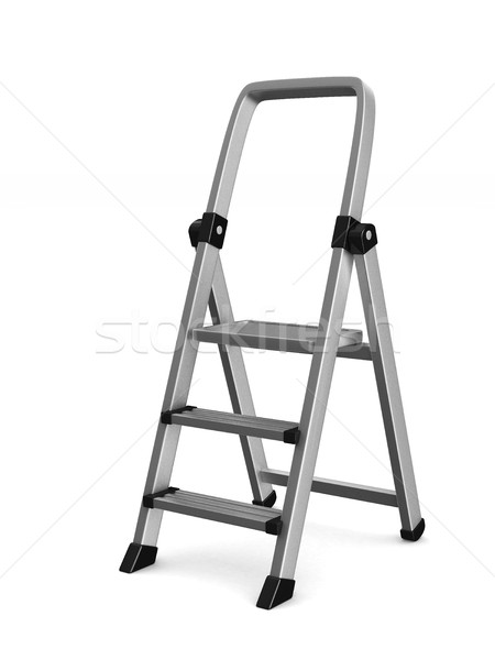 staircase on white background. Isolated 3D image Stock photo © ISerg