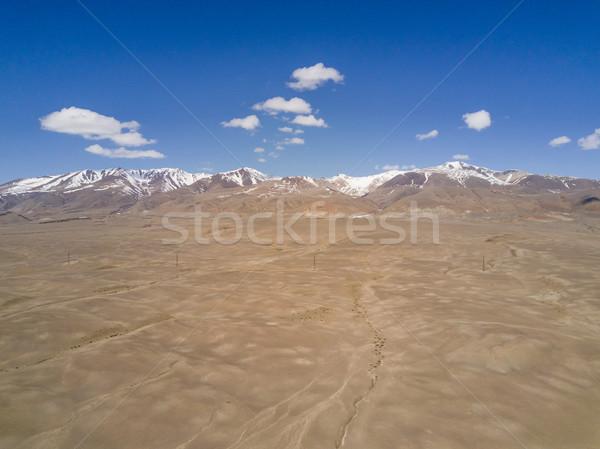 Hegyek gyönyörű tájkép Szibéria repülés felső Stock fotó © ISerg