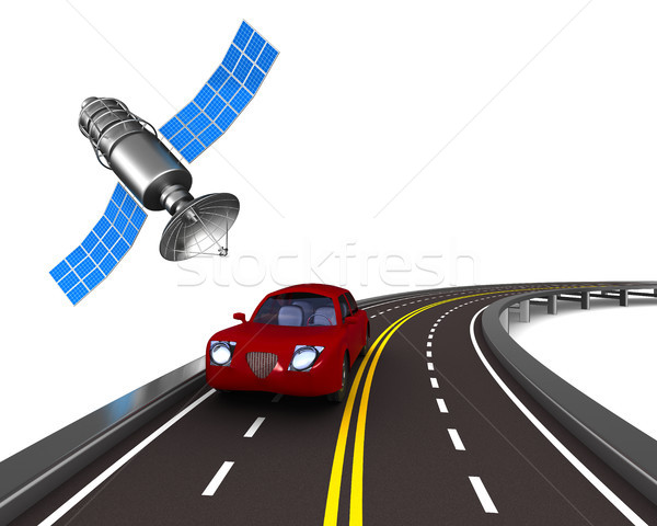 Navegação branco isolado ilustração 3d estrada pesquisar Foto stock © ISerg