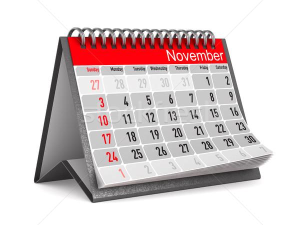 Calendar for November. Isolated 3D illustration Stock photo © ISerg