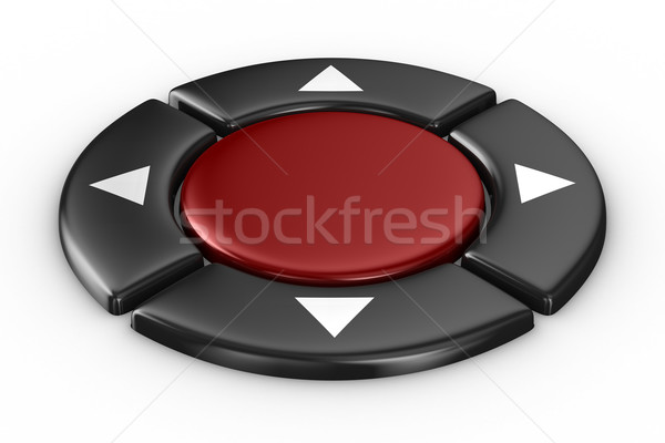 red button on white background. Isolated 3D image Stock photo © ISerg