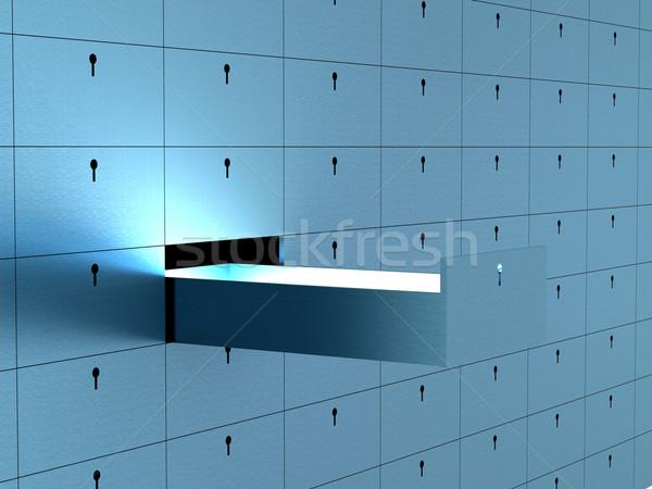 открытых ячейку безопасности депозит окна 3D Сток-фото © ISerg
