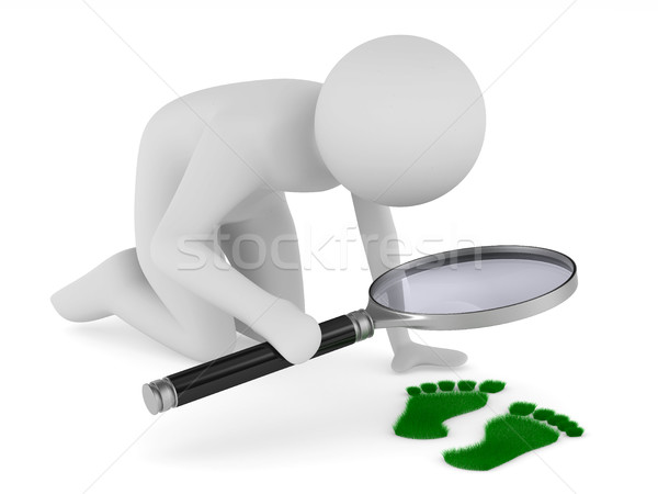 detective studies traces. Isolated 3D image on white Stock photo © ISerg