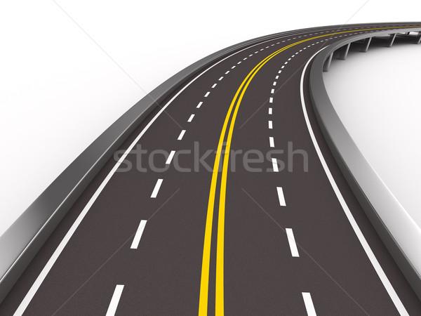 Straße weiß isoliert 3D Bild Brücke Stock foto © ISerg