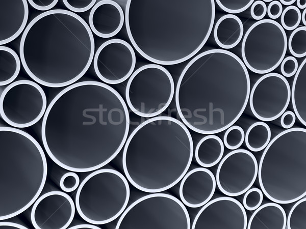 stack metallic pipes. 3d illustration Stock photo © ISerg