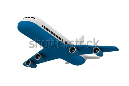 airplane on white background. Isolated 3D image Stock photo © ISerg