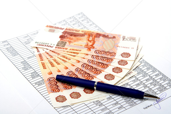 Cash Russian money for the signed document. Stock photo © ISerg
