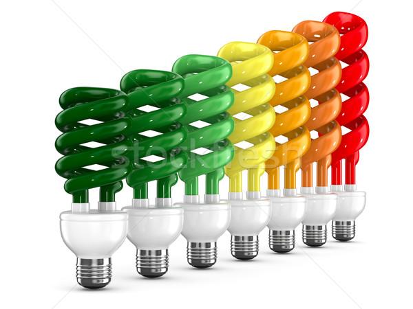 energy saving bulbs on white background. Isolated 3D image Stock photo © ISerg