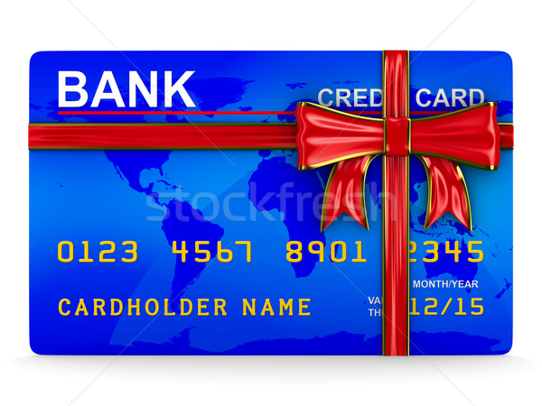 credit card on white. Isolated 3D image Stock photo © ISerg