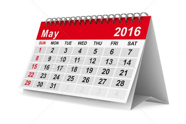 2016 year calendar. May. Isolated 3D image Stock photo © ISerg