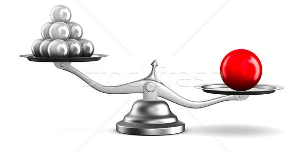 Mérleg fehér izolált 3D kép egyensúly Stock fotó © ISerg
