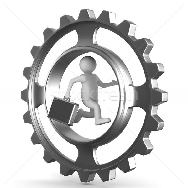 businessman on white background. Isolated 3D illustration Stock photo © ISerg