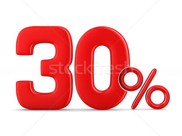 Dertig procent witte geïsoleerd 3d illustration geld Stockfoto © ISerg