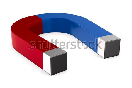 magnet on white background. Isolated 3D illustration Stock photo © ISerg