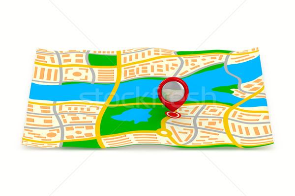 Navegação traçar branco isolado 3D imagem Foto stock © ISerg