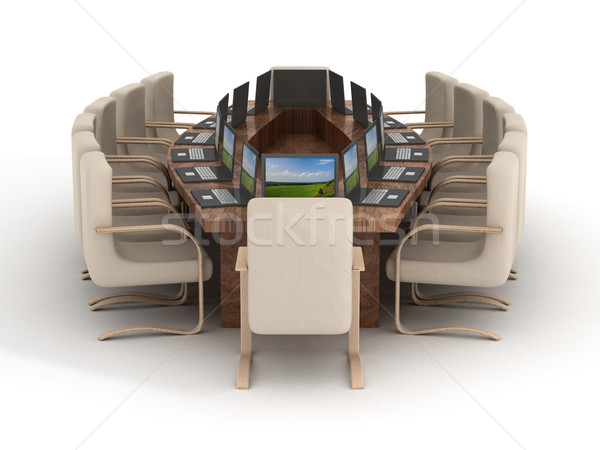 Conference of halls on a white background. 3D image. Stock photo © ISerg