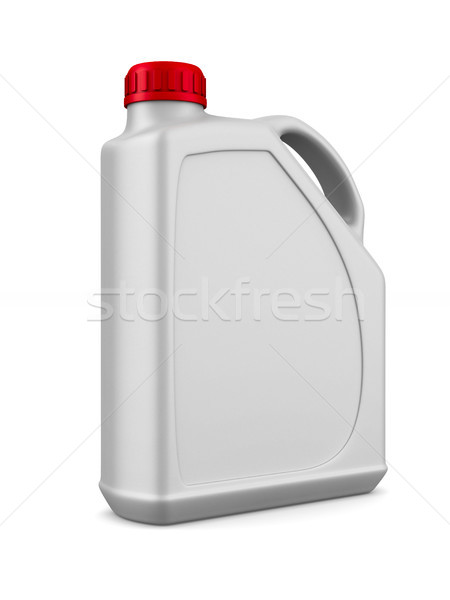 plastic canister motor oil on white background. Isolated 3D illu Stock photo © ISerg
