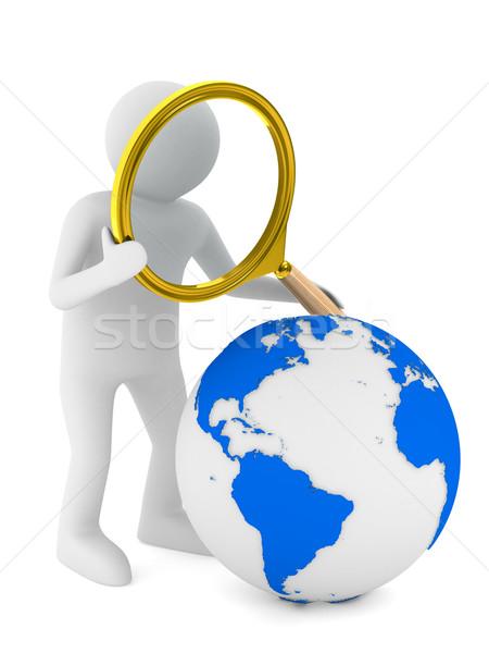 Foto stock: Global · búsqueda · aislado · 3D · imagen · blanco